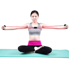 Resistance Training Bands Rope Tube Workout Exercise For Yoga 8 Type Natural Tension Health Elastic Body Fitness Sport Tool