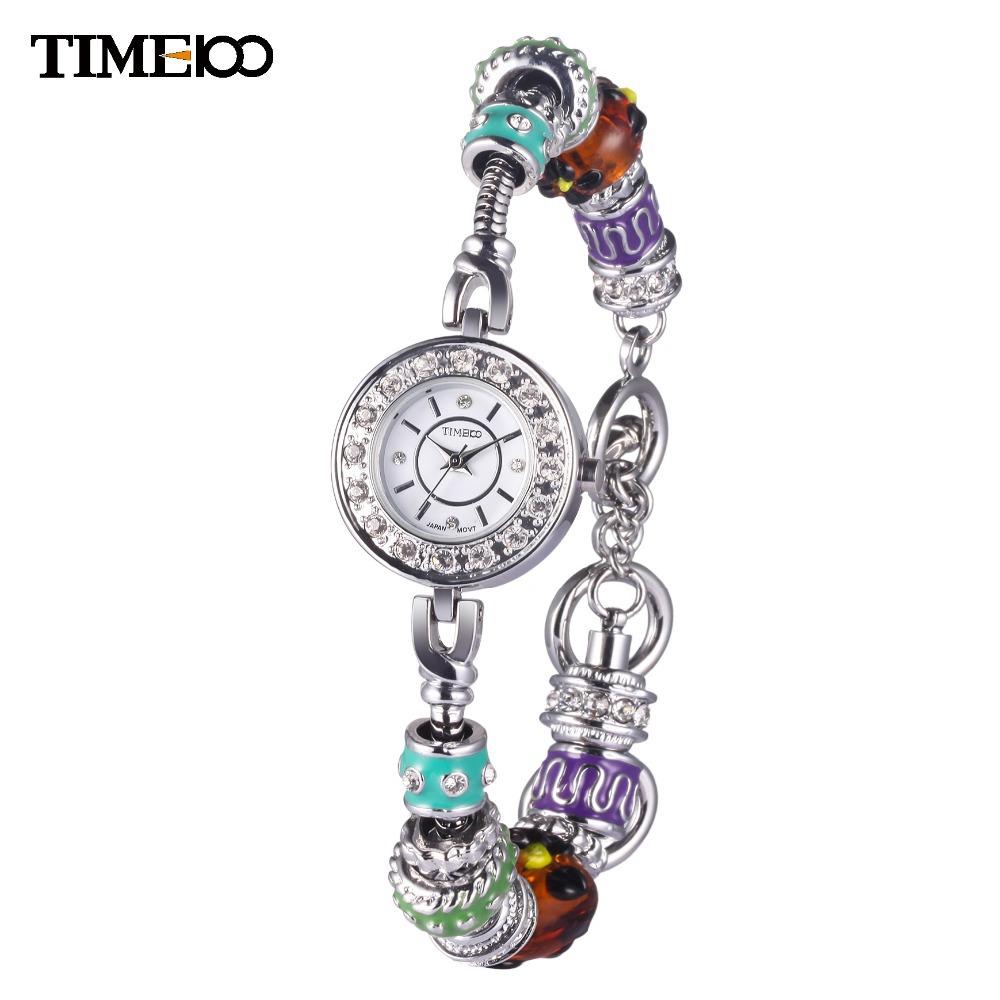 2014 Hot Sale Time100 Fashion Round Case Alloy Strap Rhinestone Waterproof  Women Diamond Quartz Bracelet Watches#W50247L.01A<br><br>Aliexpress