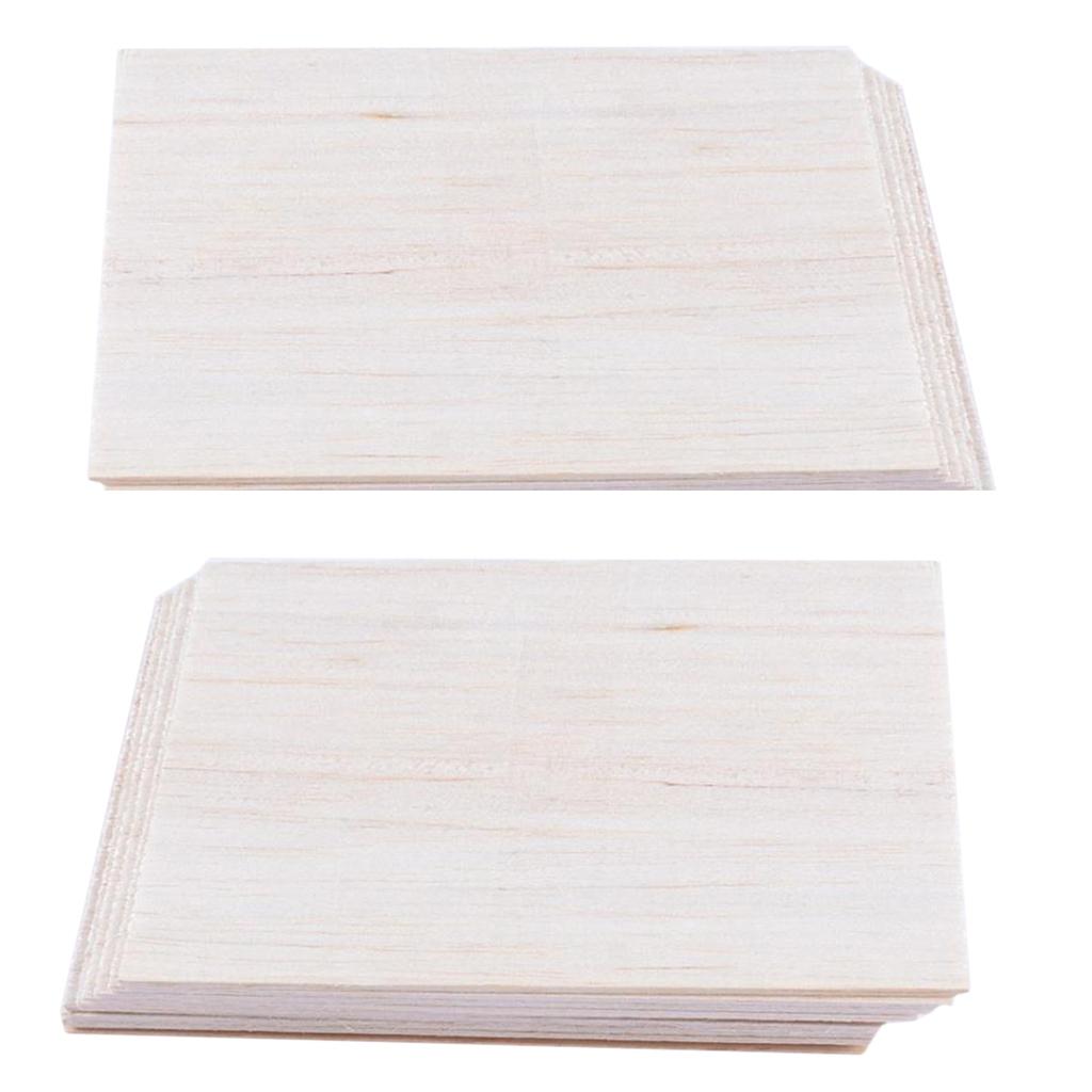 10 Sheets Natural Wood Plates Model Car Boat Wooden Sculpture 150 x100 x 2mm