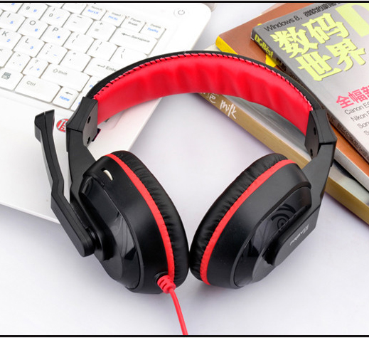New High Quality Skype Gaming Game Stereo Headphones Headset Earphone With Microphone For PC Laptop Black&RED Hot Sale