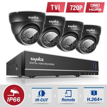 Buy SANNCE 8CH HD 1080P DVR CCTV System 4pcs 720P TVI Security Cameras IR Indoor Outdoor 8 Channels video Surveillance diy kit for $117.59 in AliExpress store