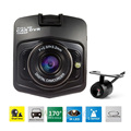 New GT300 Dual Lens Car Camera Full HD 1080P 2 Lens Car DVR Video Recorder Night