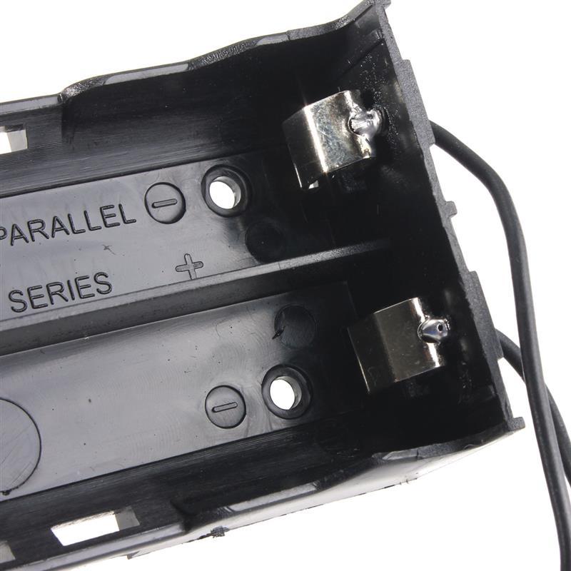 image for Hot Sale Black Plastic 2 Way 2 Slots 18650 Battery Storage Case Box Ho