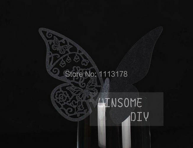 Wine Glass Cards 20pcs table cards Wine Glass Markers Wedding Cake Toppers guest name card laser Cut Card 62(China (Mainland))