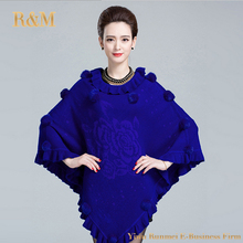 Women Cape Fashion Poncho Autumn Winter Casual Sweaters Batwing Knitted Pullover irregularity Cloak Tops Shawl Mantle(China (Mainland))