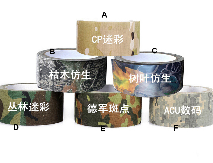Camping Hunting Camouflage Tape Army Bandage Camouflage Tape Gun Rifle Stealth Wrap Desert Shooting Hunting Tactical