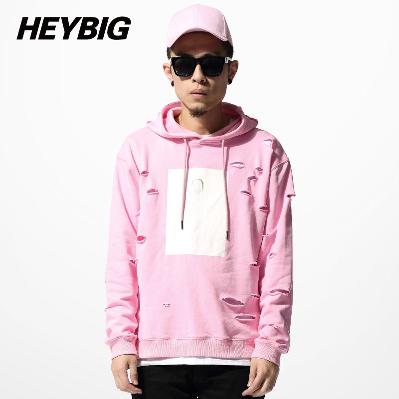 Roze hoodie mannen
