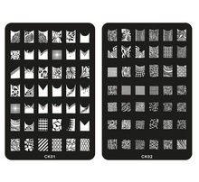 Wholesale Nail Art Plate Image Plate Stainless Steel Nail Template Image decoration Stencils stamping 1000pcs/lot free shipping(China (Mainland))