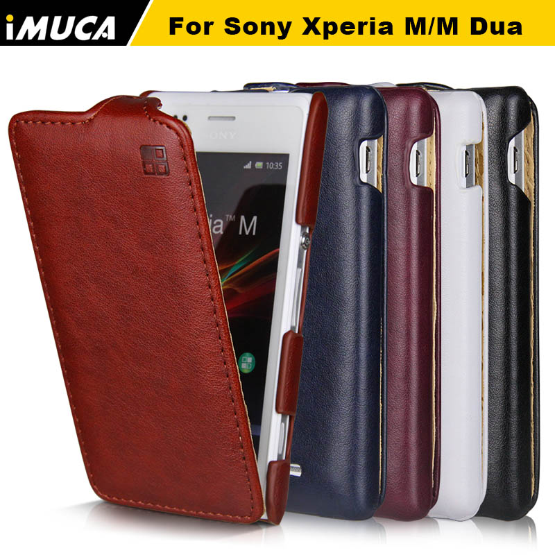 iMUCA Sony Xperia M xperia m cases covers PU Leather Flip covers Sony Xperia M C1905 C1904 Dual C2004 C200 Coque Fundas bags