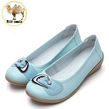 2015 Women Flats Shoes Woman Genuine Leather Mother Shoes Moccasins Women s Soft Leisure Flats Loafers