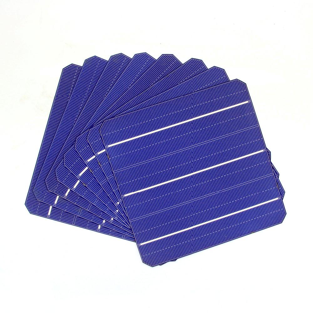 60 Pcs Solar Panel Solar Cells Monocrystalline For DIY Solar Panel Home System(China (Mainland))