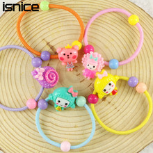 Buy isnice 10pcs/lot Many Patterns Animal Hair Accessories Girls Elastic Hair Bands Rubber Bands Headwear Gum Hair hairpins for $1.47 in AliExpress store