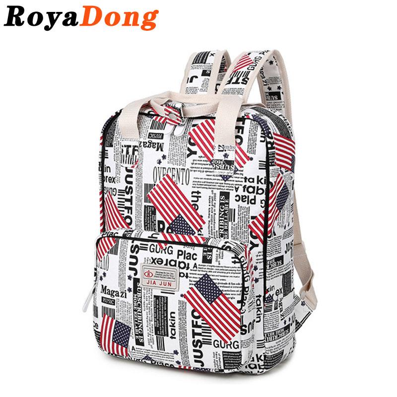 RoyaDong Backpack Women School Bags For Teenage Girls Canvas World Famous Buildings Prints Kids Bag Mochila Rucksack Sac A Dos(China (Mainland))