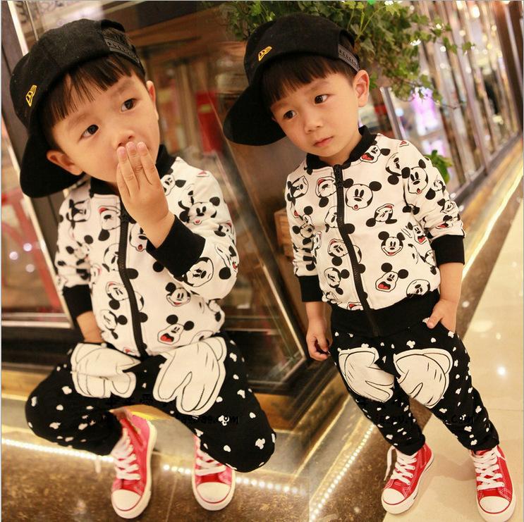 2014 minnie mouse clothing autumn baby boy girl long sleeve jacket coat+harem Pants 2pcs set children clothing set girls outfits<br><br>Aliexpress