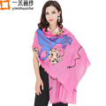 2016 winter new brand designer horse print hight quality wool shawl and pashminas cosy scarf for