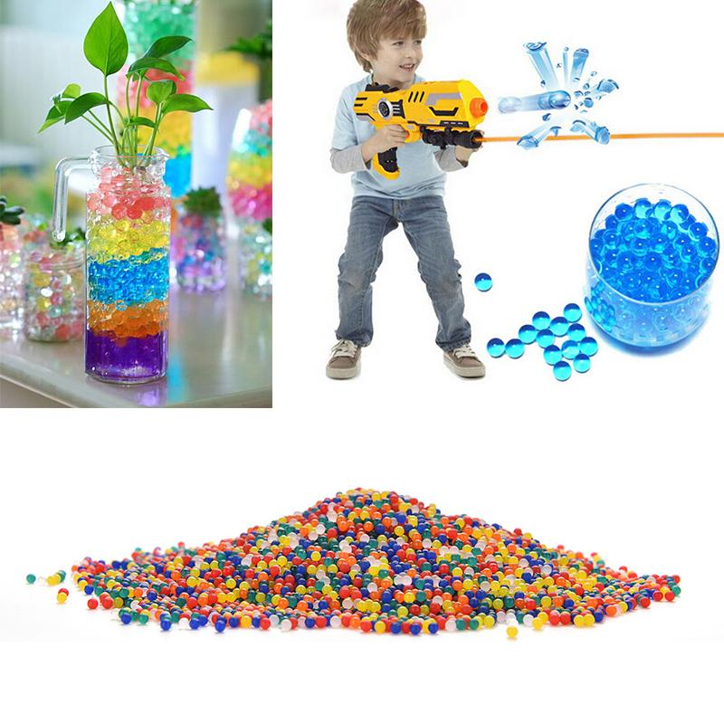 10000PCS Color Soft Crystal Bullet Water Gun Paintball Bullet Orbeez Gun Toy Nerf Bibulous Air Accessories Most Pisol(China (Mainland))