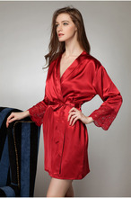 Large Size Sexy Silk Satin Robe Bathrobe Dressing Gowns For Women Perfect Bridesmaid Robes Nightgown for Bride and Lovers