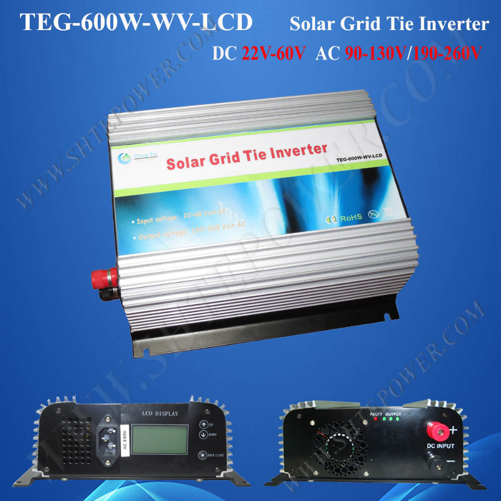 Grid Tie Micro Inverter 600W AC Solar Inverter WIth LCD Display DC 22V-60V Input(China (Mainland))