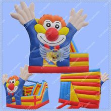New Design 5 Meters by 4 Meters Clown Inflatable Bouncy House, Inflatable Trampoline, Commercial Bounce House for Kids(China (Mainland))