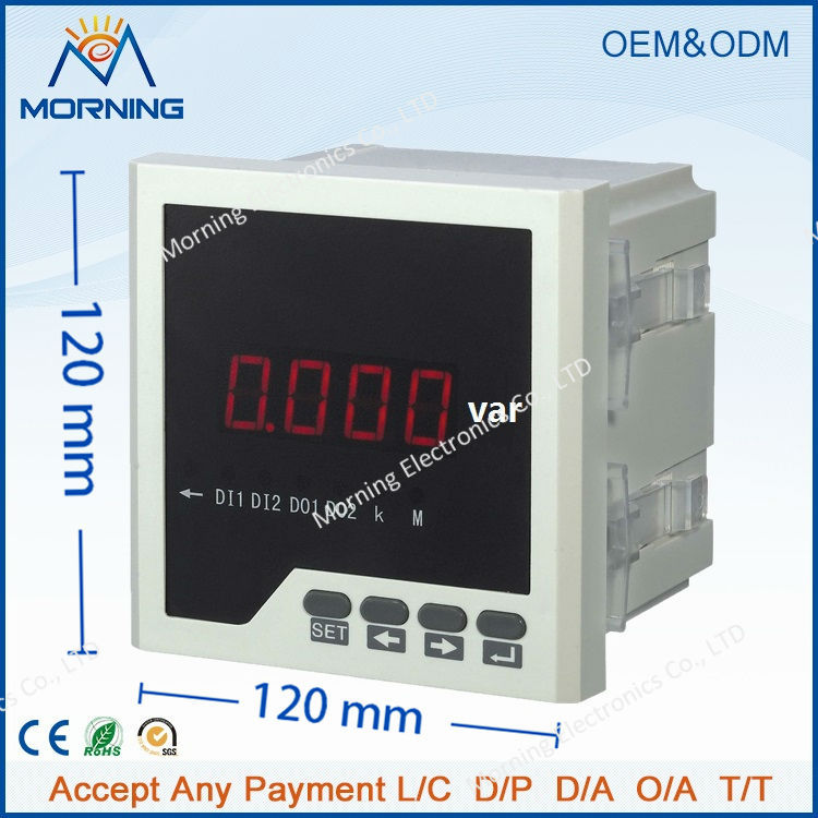 Q21 frame size 120*120 low price panel single-phase led digital reactive power meter, for industrial usage<br><br>Aliexpress