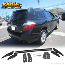 Buy 08-13 Toyota Highlander Aluminum OE Style Roof Rack Side Rail Black for $63.64 in AliExpress store