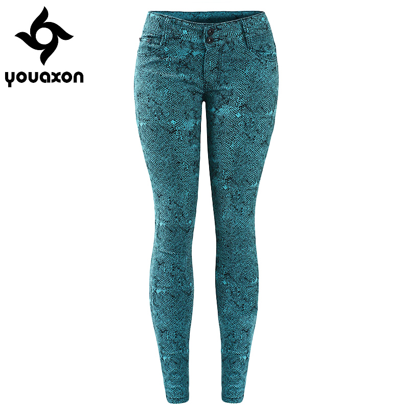 Women Low Waist Stretch Skinny Jeans For Woman (Green, Black, Red, Blue) (Jeans Size In Inches 24-28) 1898 youaxon(China (Mainland))