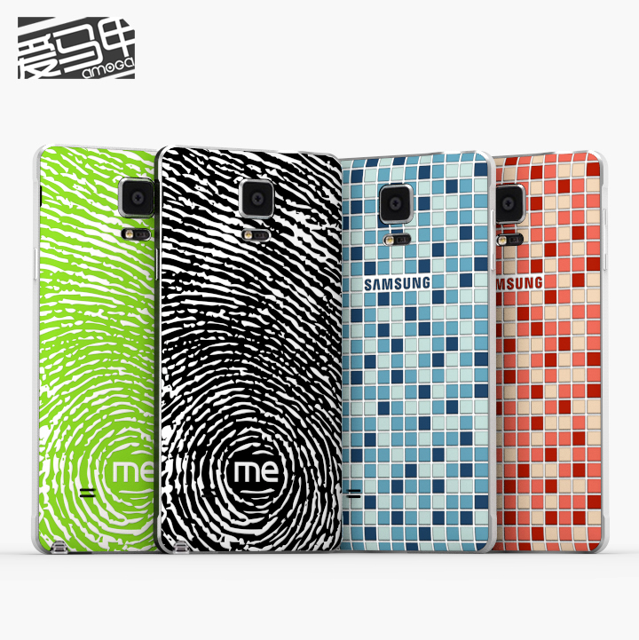 2015 new silicone rear cover shell applies For Samsung Note 4 following from simple and easy(China (Mainland))
