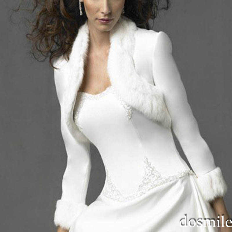 soft faux fur shrug fully lined evening tippet bridal bolero party jacket coat see more like this.
