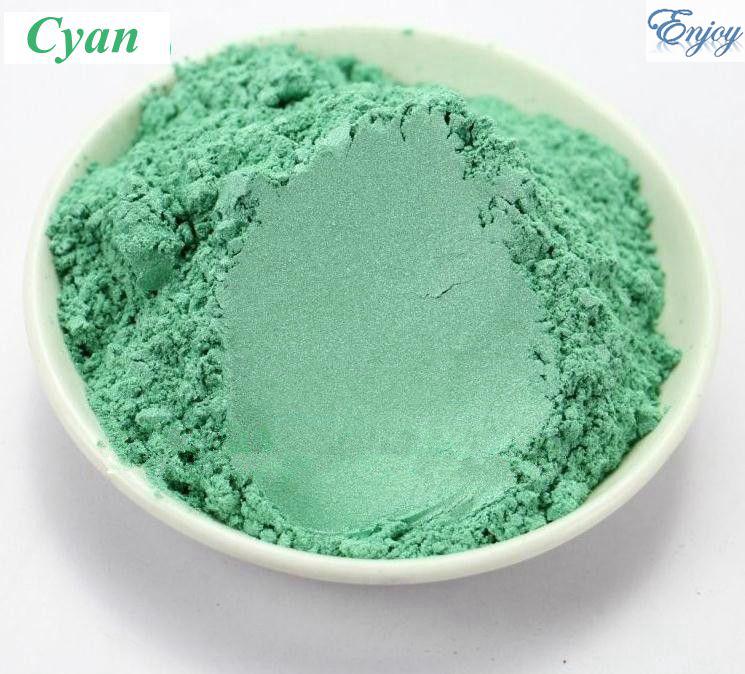 500g/bag make up Multicolour Pearl Powder Cyan color Mica powder Pigment Glitter Pearlescent Powder For DIY Eyeshadow(China (Mainland))