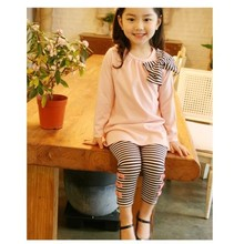 New 2015 autumn children clothing suits girls clothing set child cotton sportswear set girl casual suit