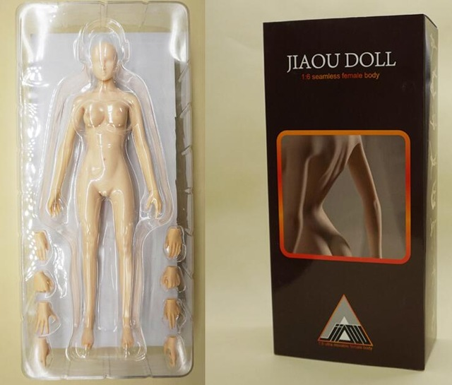 JIAOU DOLL 1/6 FeMale soft silicom body DIY Collectible Action Figure Mannequin female joint doll encapsulated ferrite(China (Mainland))