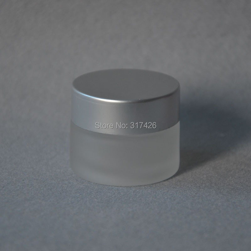 Free Shipping- 15g cosmetic bottle,frosted glass cream jar,cosmetic container(China (Mainland))