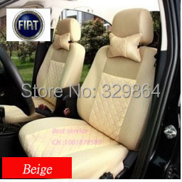 Фотография Deluxe Car Seat Cover for Fiat Palio Siena 500 Universal Set neck.covers silk+Sandwich materials + free 2 pillows headset sets