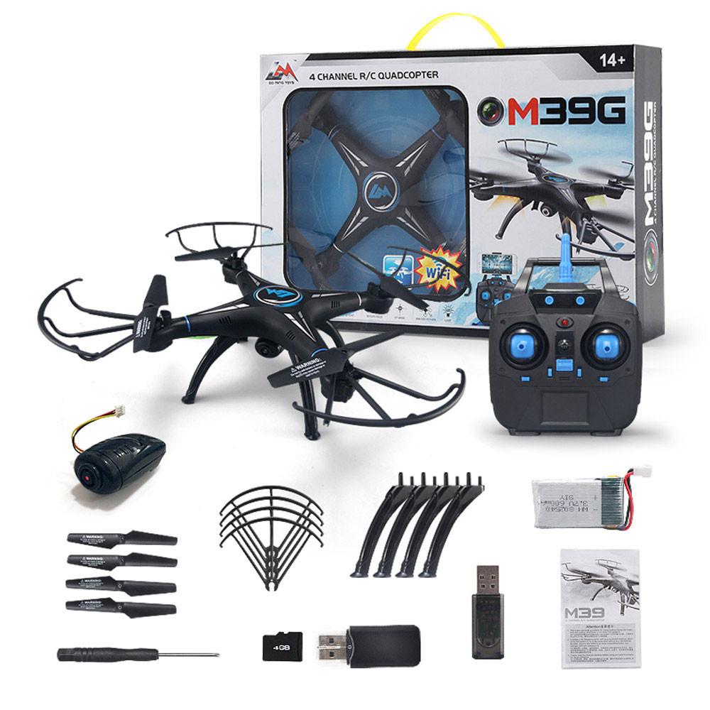XZ Headless Drone M39GW 2.4G 6-axis 4CH HD Camera WiFi FPV Gyro RC Quadcopter Altitude Hold Mini Drone D30