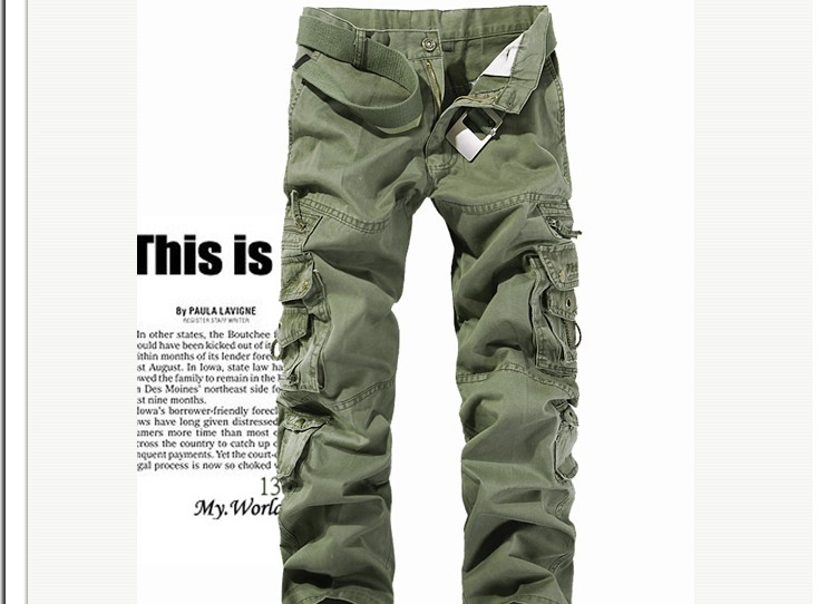 2015 New Arrival Army Green 5Colors Plus Size Militray Men s Pants Brand Designer Straight Pocket