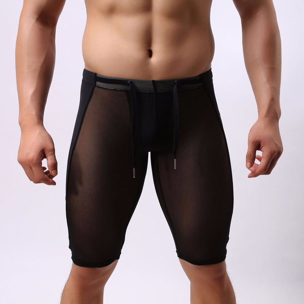 Super Sexy Men Multifunctional Sport Shorts Fit Gym Beach Swimming Shorts Brave person Thin Transparent Gay Mens Swimwear Trunks(China (Mainland))
