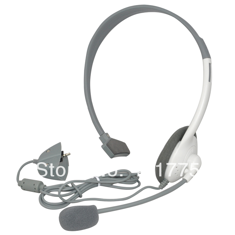 Wholesale 10pcs / lot Headset Headphone Microphone for Microsoft Xbox 360 Live Gaming Chat Online Free Shipping(China (Mainland))