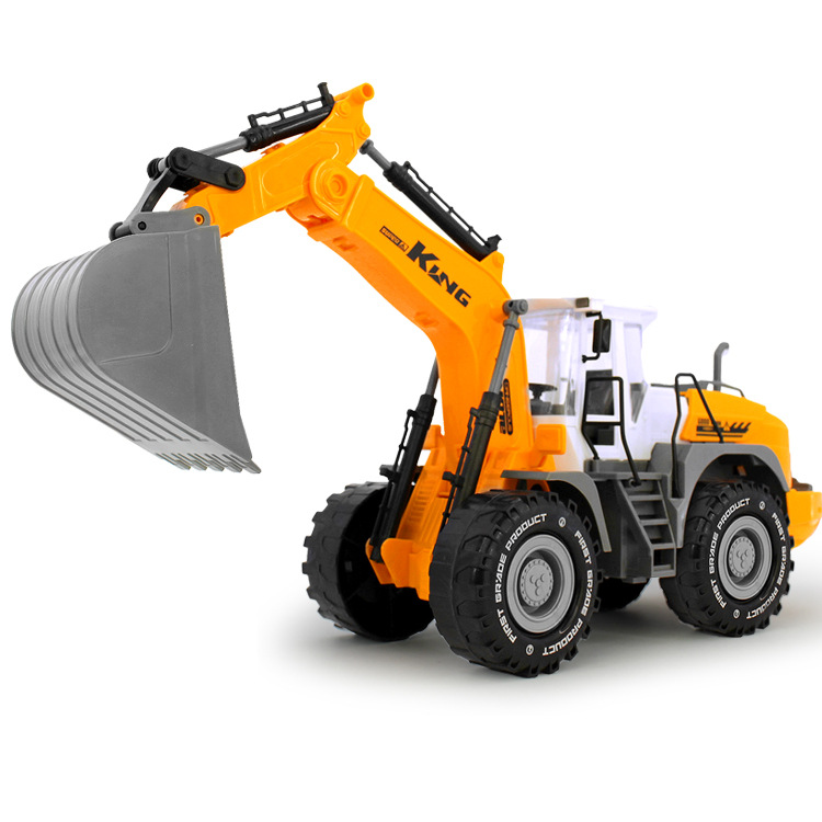 1:22 Oversized children's toys excavator digging Toys Inertia Engineering car model kit(China (Mainland))