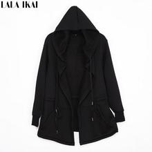 Cloak Men Dark Edgy Diabolic Sharp Avant Garde Hooded Cape-Coat Fleece Hoodies Men Awesome Urban Clothing halloween SMC0053-5(China (Mainland))
