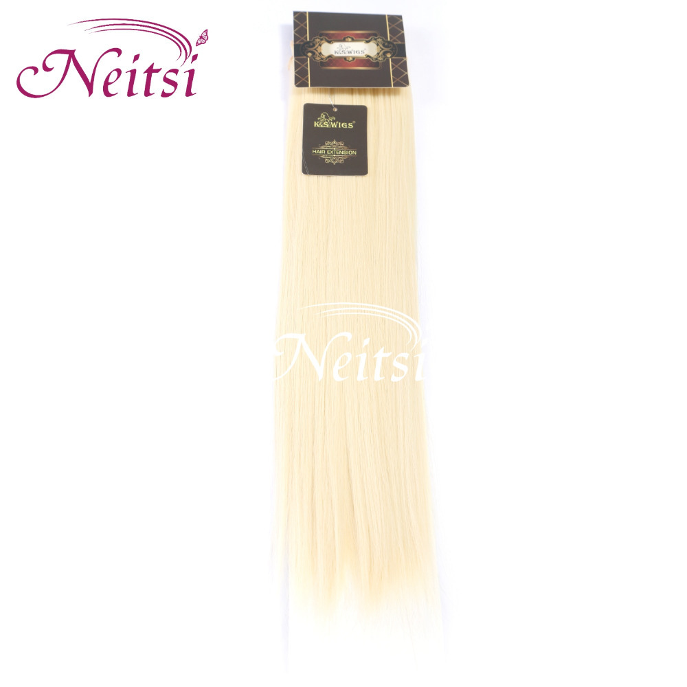"Neitsi New 2014 Korea Synthetic Straight Hair Extensions 1pc lot 18"" 1B# 613# Color Hair Pieces Wholesale Dendy(China (Mainland))"