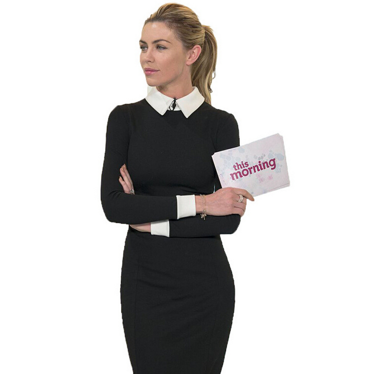 Casual Dress Solid Color 2015 Women Bodycon Office Wear Slim Dress Bandage Women Casual Vestidos Brand Dress DS-087(China (Mainland))