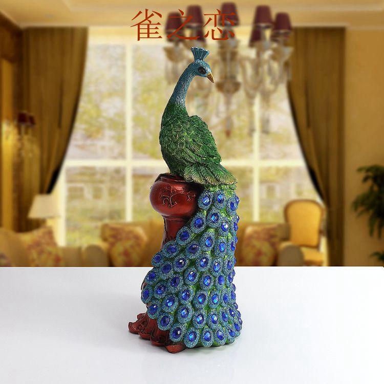 اشياء الطاوس Creative-home-accessories-resin-ornaments-font-b-peacock-b-font-small-living-room-TV-cabinet-ornaments