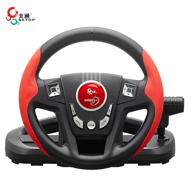 BETOP BTP-3189 11-Inch Real Size Non-Slip 300 Degree Shock Computer Driving Game Racing Wheel with Pedals Shift for PC for PS3(China (Mainland))