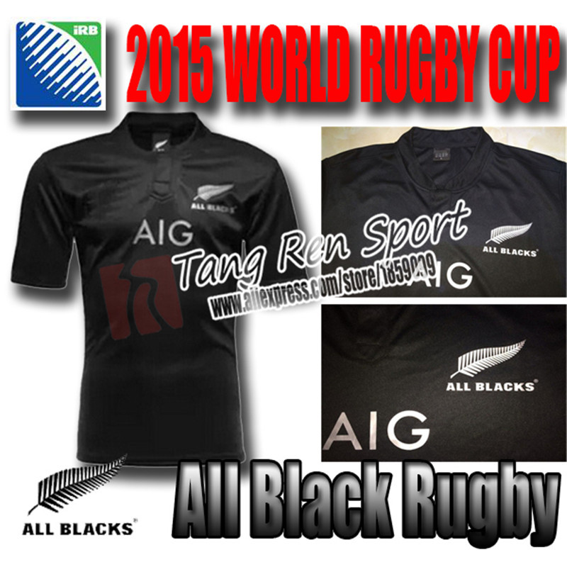 New Zealand All Blacks Rugby Shirt 2014/15 16 sevens Season All Blacks Men Rugby best quality jersey 2015 2016 all blacks S-XXL(China (Mainland))