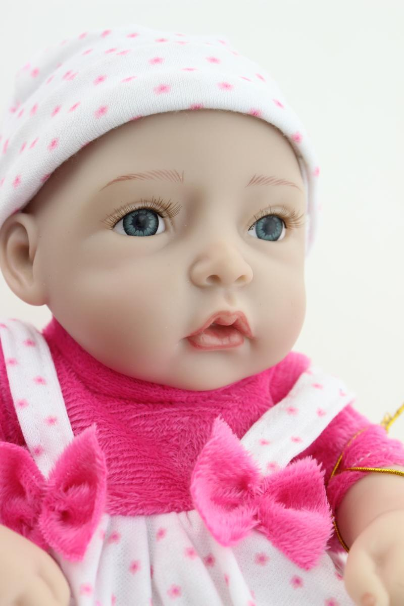 """12"""" Reborn baby dolls Silicone vinyl Realistic and Lifelike Newborn baby-reborn mini lovely doll for girl's gift(China (Mainland))"""
