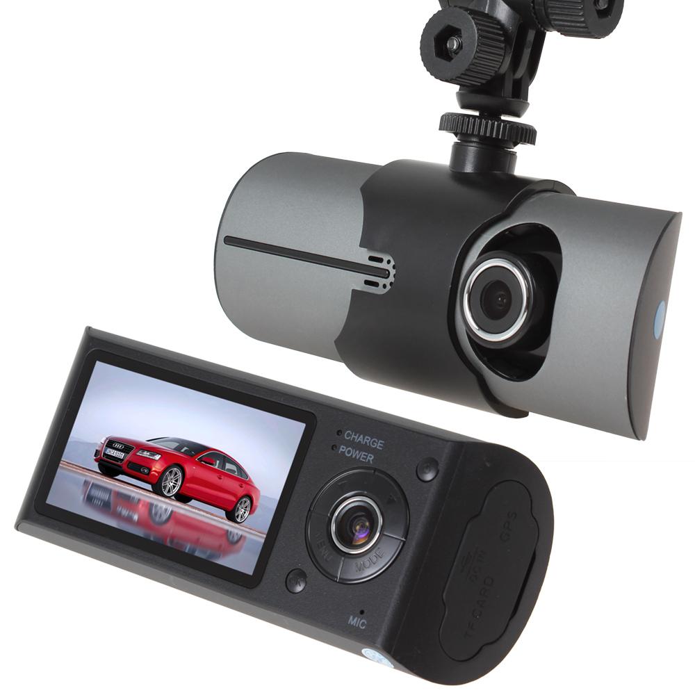 2 x Dual Camera Night Vision Car DVR Camera Video Recorder with GPS Module 3D G-sensor, 140 Degree View Angle Vehicle Black Box(China (Mainland))