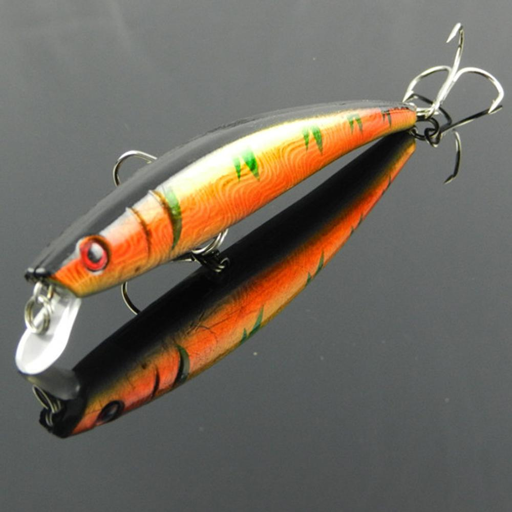 Hot Sale 1 Pcs New Promotions Plastic Minnow Fishing Lure Bass Crank bait Swim baits 11.5cm 10 Color Wholesale(China (Mainland))