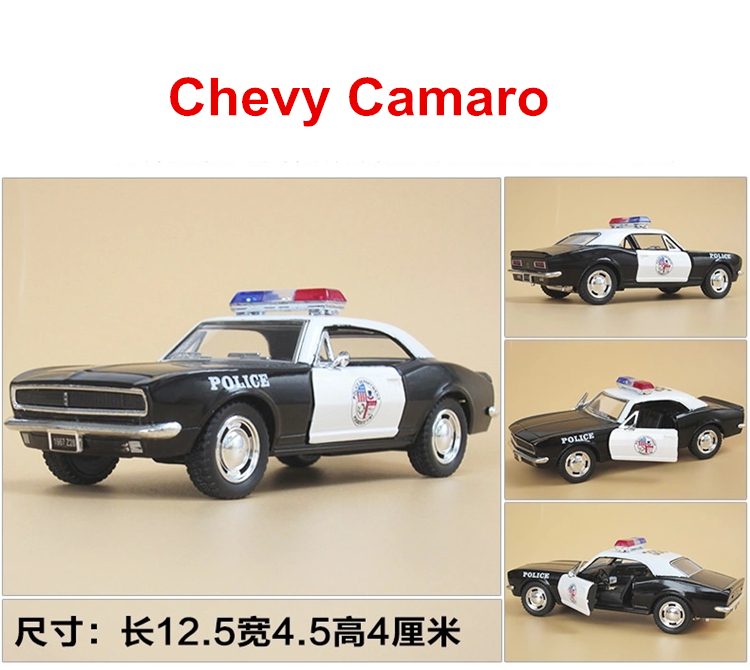 Kinsmart toys Brand New American Police Car Camaro Diecast 1/36 large Alloy car model by Soft-World Classic Pull Back Open Door(China (Mainland))