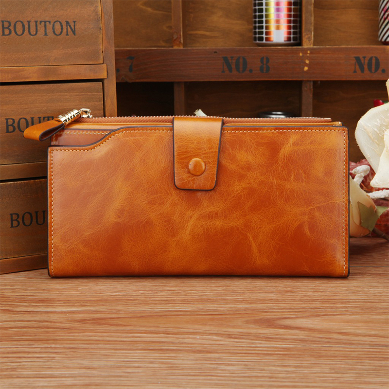 best sell top oil wax leather cowhide leather wallet Male and female general wallet purse accessories women vintage wallet(China (Mainland))
