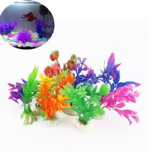 10Pcs/pack Plastic Aquarium Plants Plantas Artificiales Decorative Fish Plant Accessories Aquario Ornament Decor Landscape(Hong Kong)